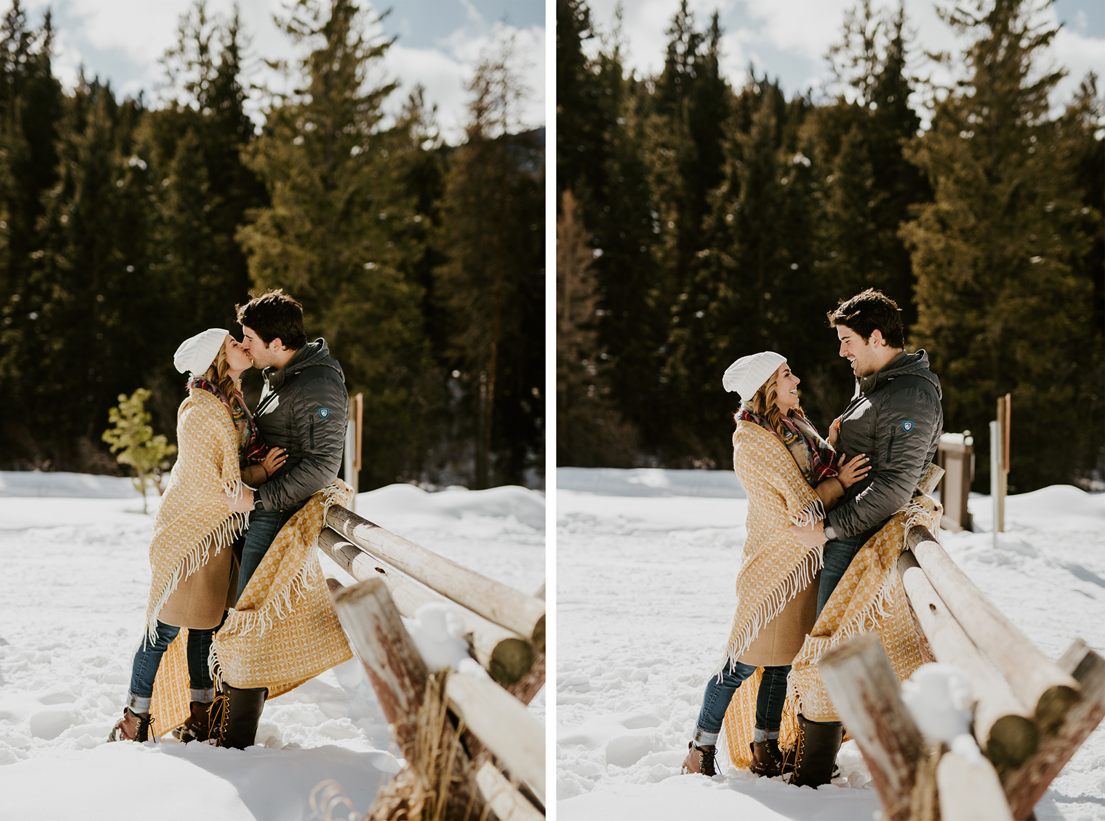 montana winter engagement