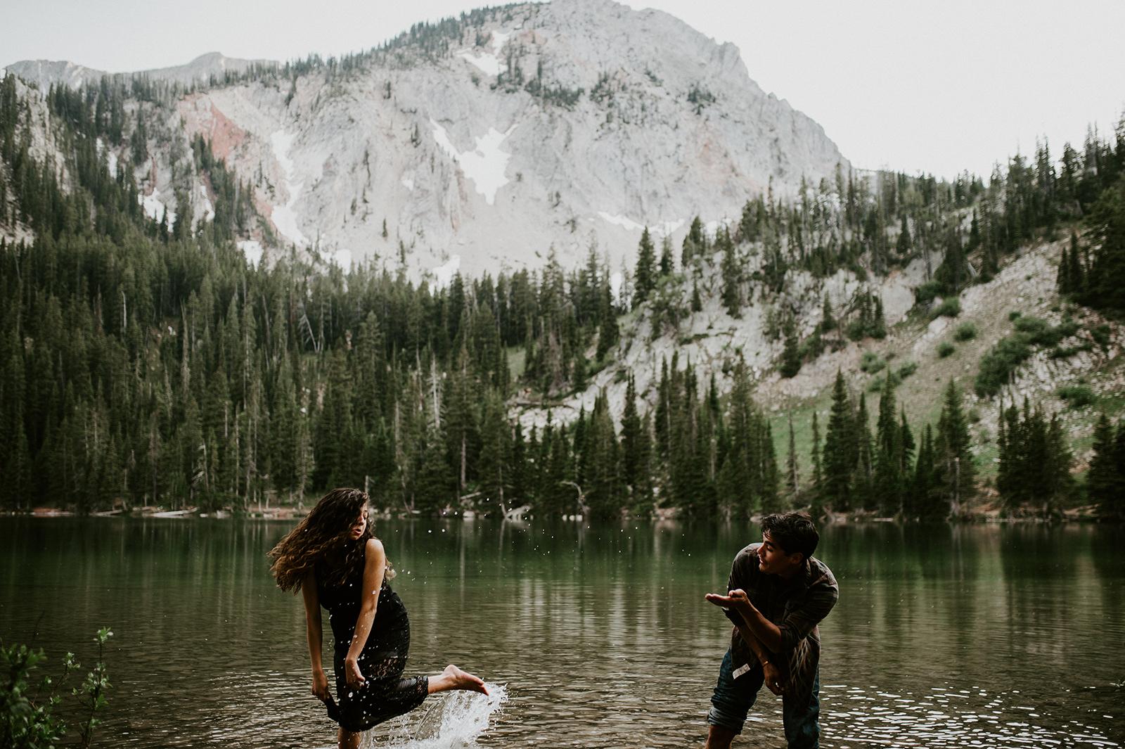 lake photoshoot