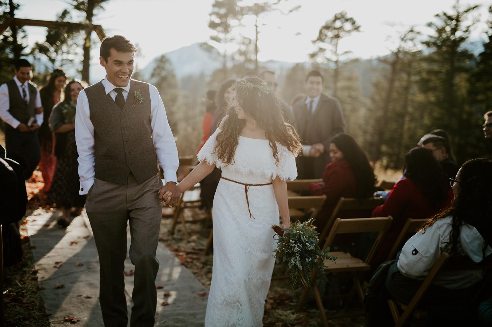 intimate bozeman wedding